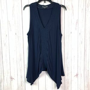 adrianna papell tank top Large blue